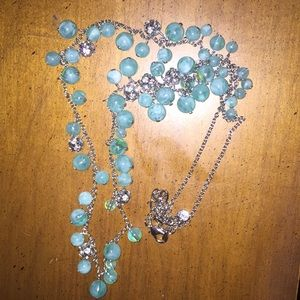 Loft turquoise teal beaded necklace